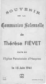 Souvenir de communion